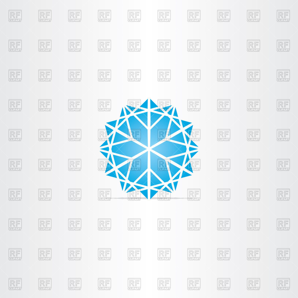 1200x1200 Abstract Blue Snowflake Icon Vector Image Vector Artwork Of