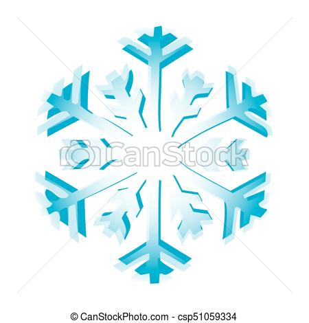 450x470 Isolated Snowflake Icon On A White Background, Vector Illustration.
