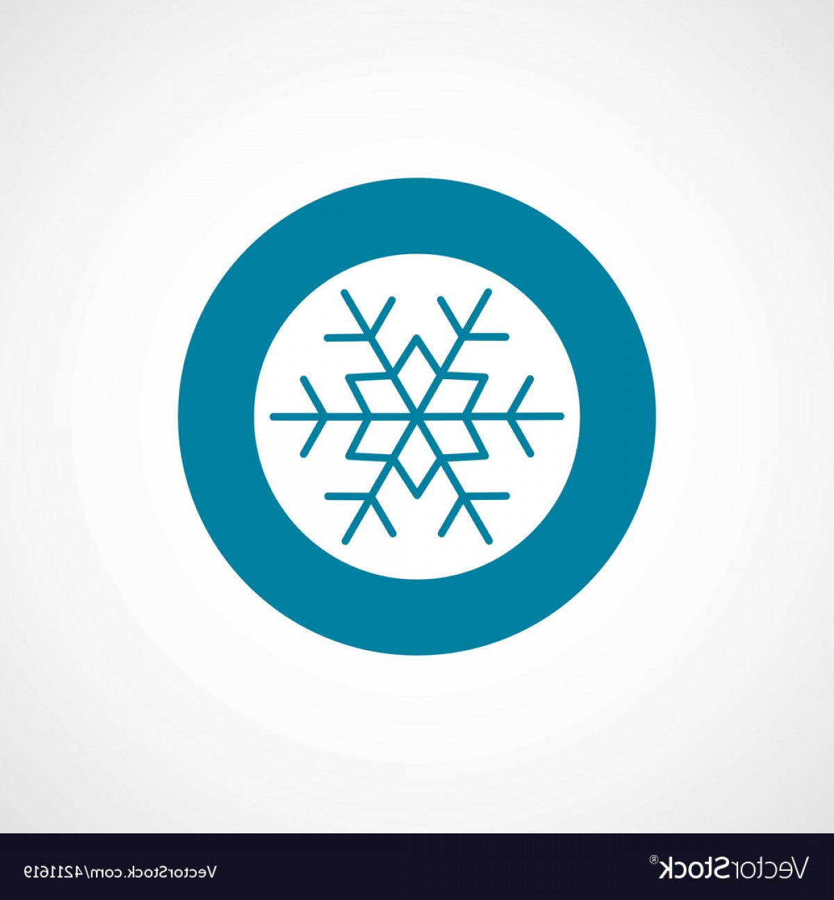 1200x1296 Snowflake Icon Bold Blue Circle Border Vector Lazttweet