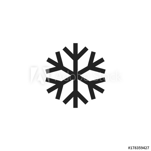 500x500 Snowflake Icon Vector Isolated