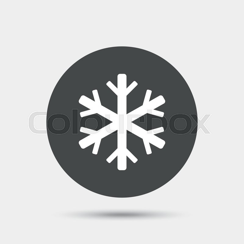 800x800 Air Conditioning Sign Icon. Snowflake Symbol. Gray Circle Button