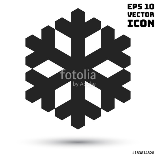 500x500 Snowflake Icon. Vector Simple Snowflake Logo Stock Image And