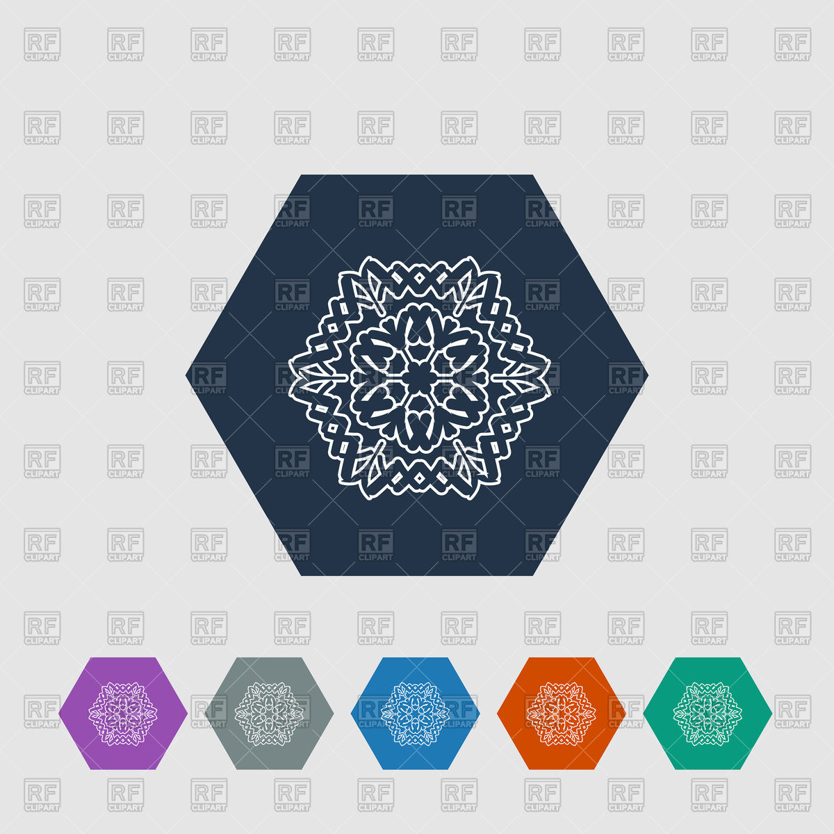 1200x1200 Snowflake Hexagon Flat Icon Vector Image Vector Artwork Of Icons