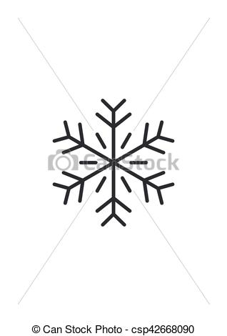 318x470 Snowflake Icon Vector Illustration Isolated On White Background.