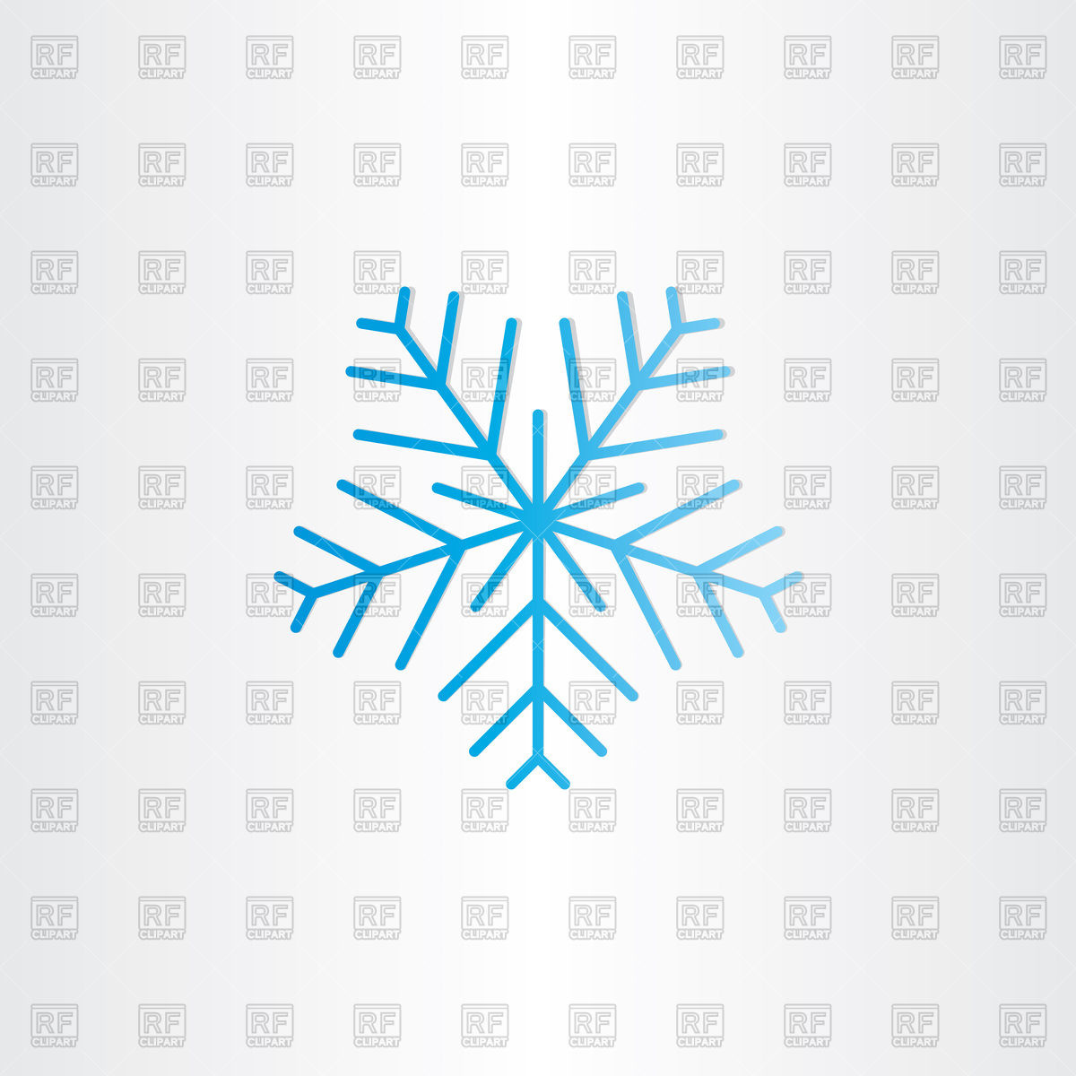 1200x1200 Blue Snowflake Icon Vector Image Vector Artwork Of Signs