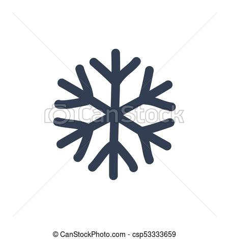 450x470 Snowflake Icon. Black Silhouette Snow Flake Sign, Isolated On