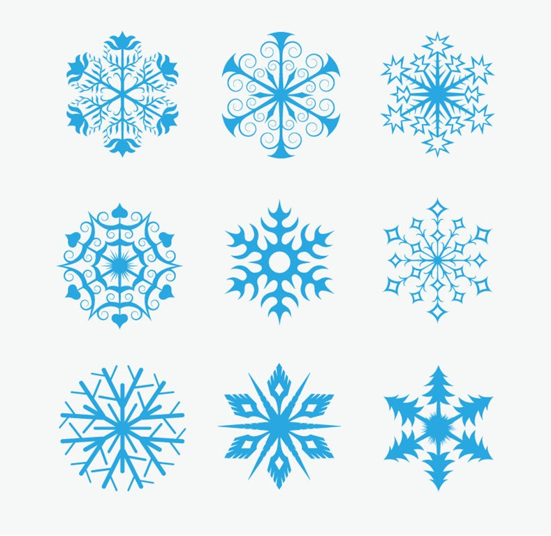 789x768 Snowflakes Icon Collection Vector Free Vector Graphics All