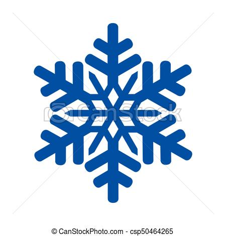 450x470 Blue Snowflake Icon On A White Background, Vector Illustration.