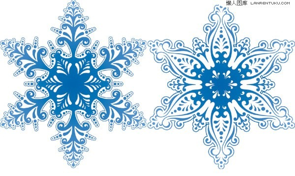 600x358 2 Beautiful Snowflake Pattern Vector Material My Free