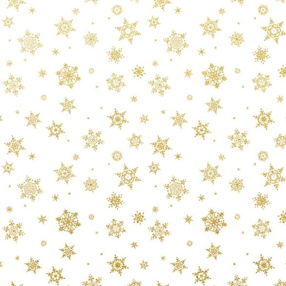 588x588 Gold Snowflakes Seamless Pattern With White Backgrounds Vector 03