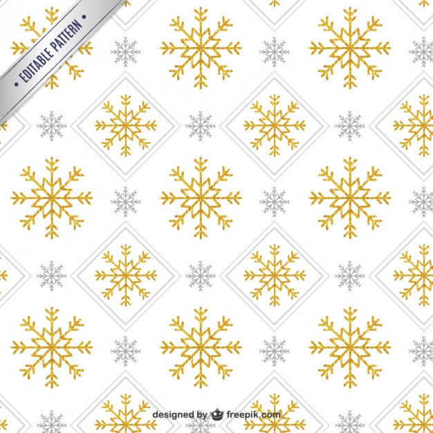 626x626 Golden Snowflake Pattern Vector Free Download