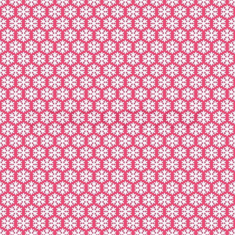 800x800 Pink Seamless Snowflakes Pattern. Vector Snow Background