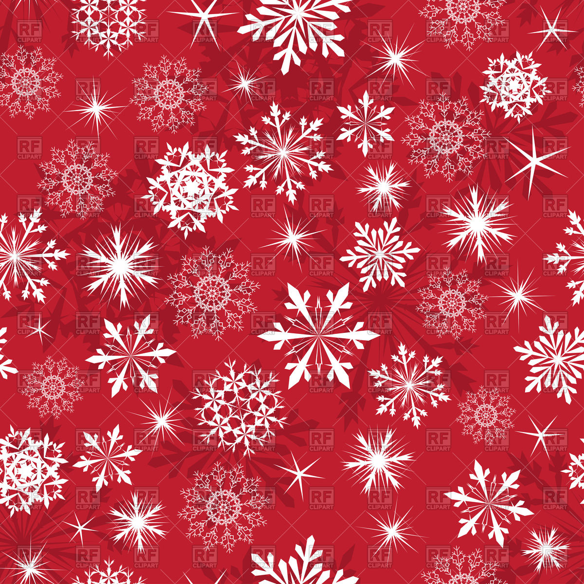 1200x1200 Seamless Red Snowflake Pattern Vector Image Vector Artwork Of