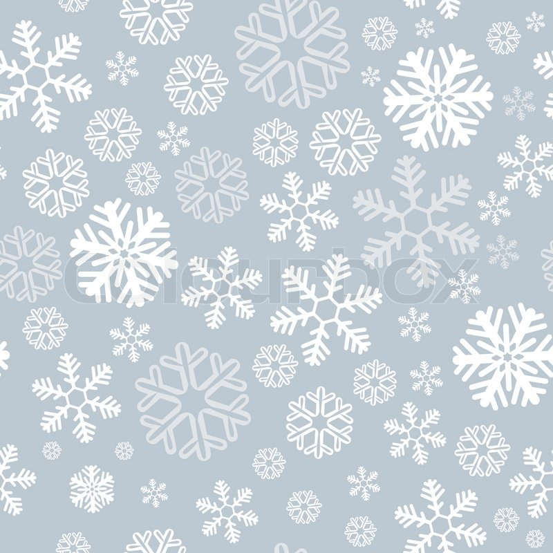800x800 Snowflake Christmas And New Year Seamless Pattern Vector