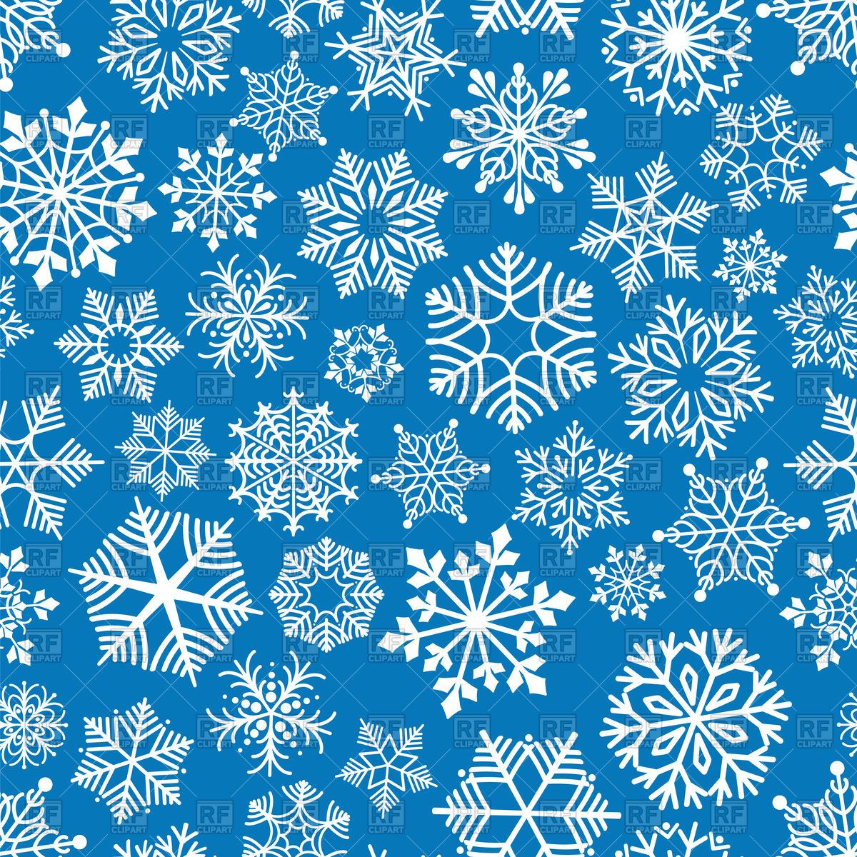 1200x1200 Snowflakes Seamless Pattern Vector Image Vector Artwork Of