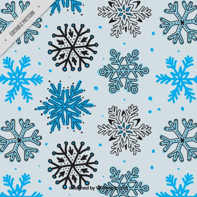 626x626 Hand Drawn Snowflakes Pattern Vector Free Download