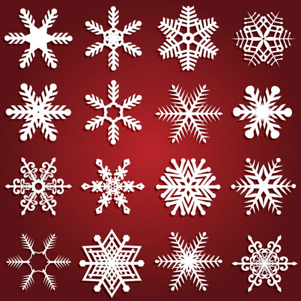 600x600 Beautiful Snowflake Patterns Vector Download Free Vectors