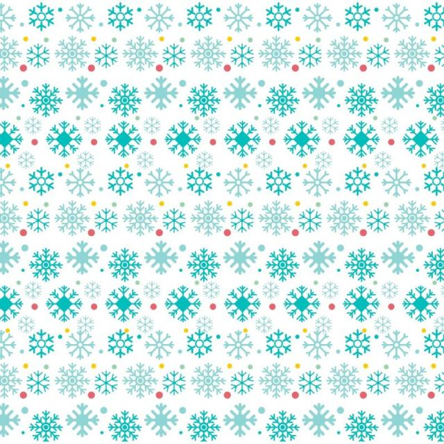 640x640 Christmas Snowflake Pattern On White Background, Merry, Vector Png