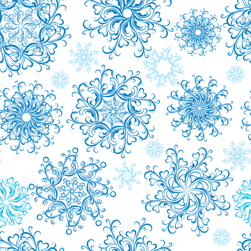 500x500 Christmas Snowflakes Patterns Design Vector 05 Free Download