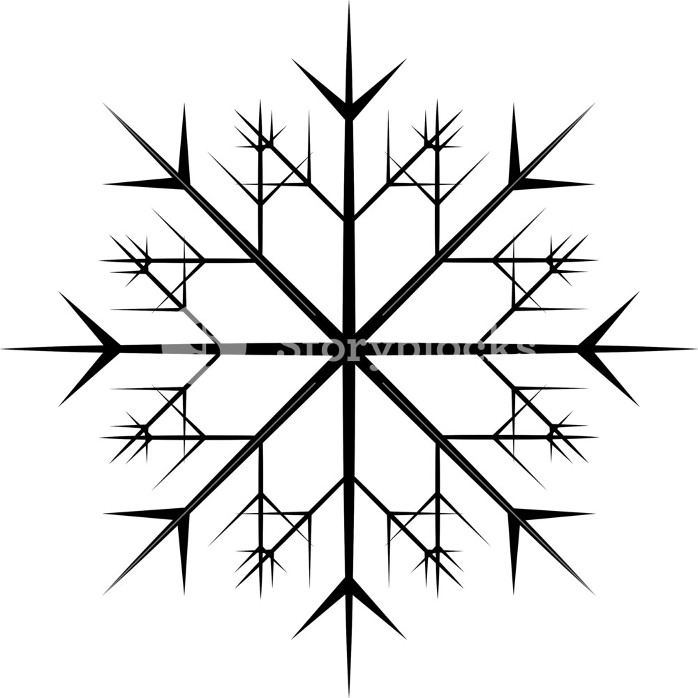 1000x1000 Xmas Snowflake Vector Shape Royalty Free Stock Image