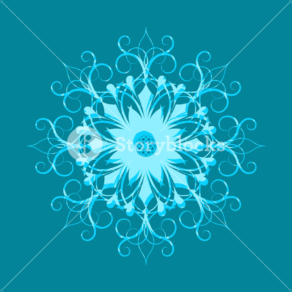 1000x1000 Floral Snowflake Vector Art Royalty Free Stock Image