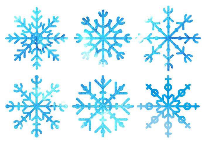 700x490 Free Watercolor Snowflakes Vector