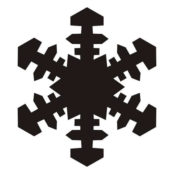 600x600 Free Vector Snowflake Banner Transparent Download
