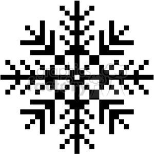 300x300 Royalty Free 8 Bit Black Snowflake Vector Art 400387 Vector Clip