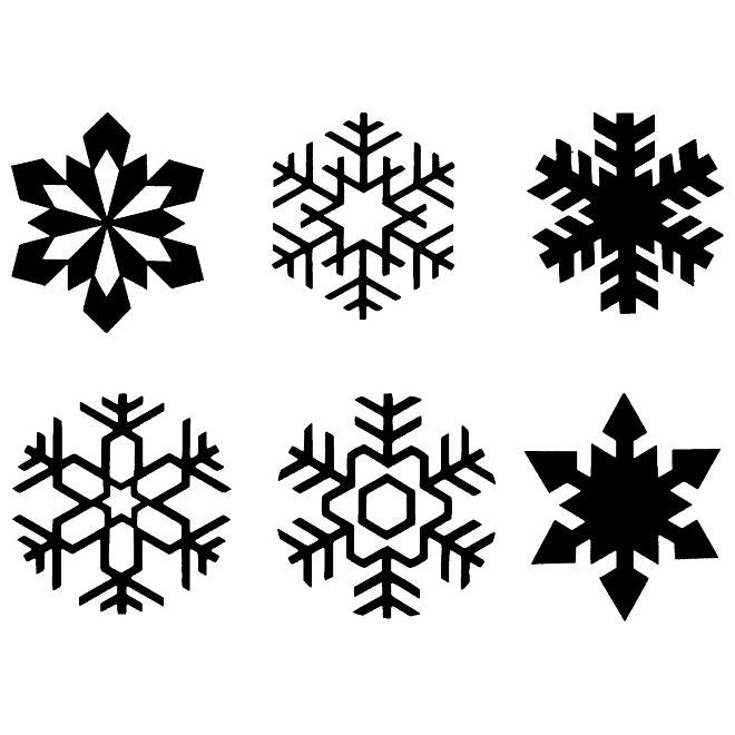 660x660 Snowflakes Free Vector Set