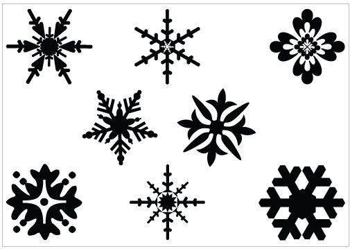 505x359 Snowflake Clipart Black And White Vector Daily Health