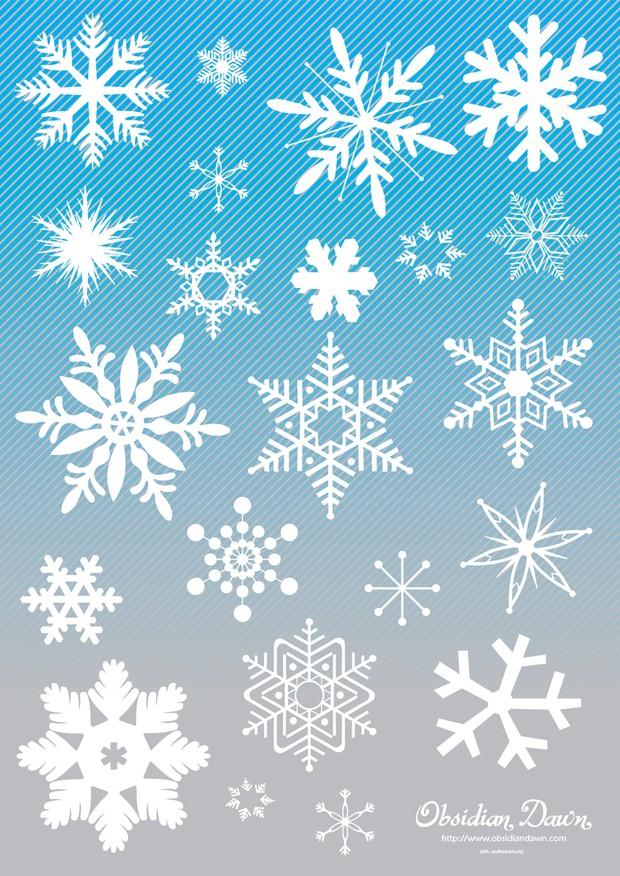 620x876 Snowflake Vector Art Collection Vector Art Graphics