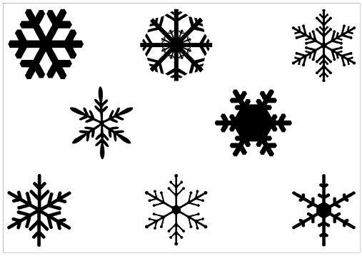 507x359 Snowflake Vector Art Illustrator