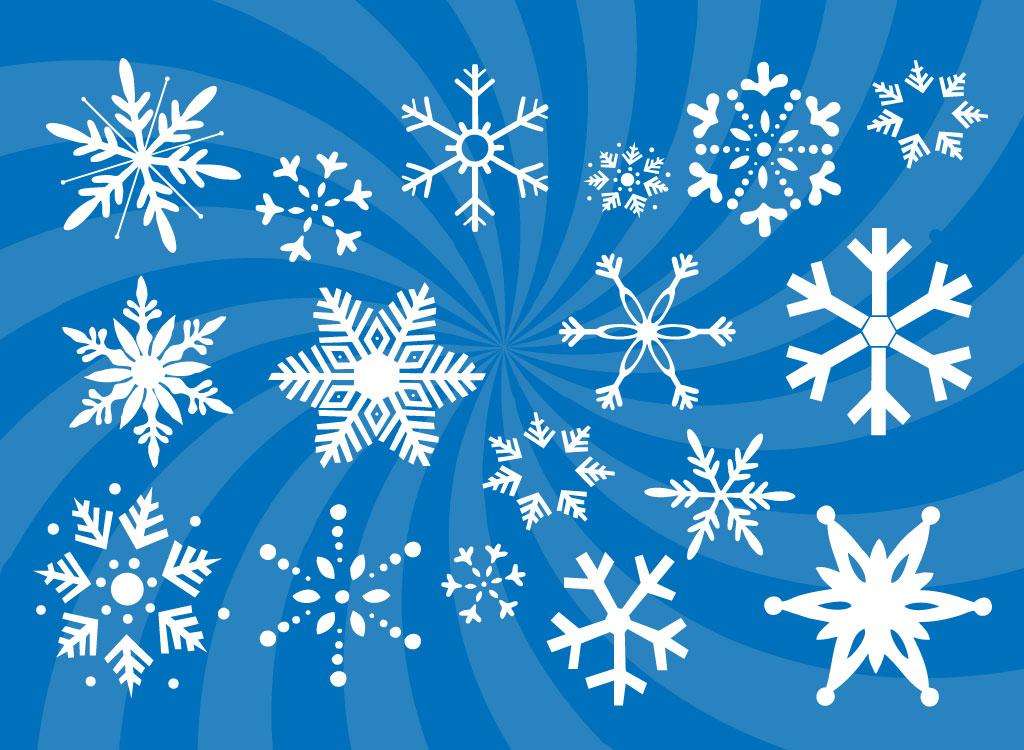 1024x750 Snowflakes Vectors Set