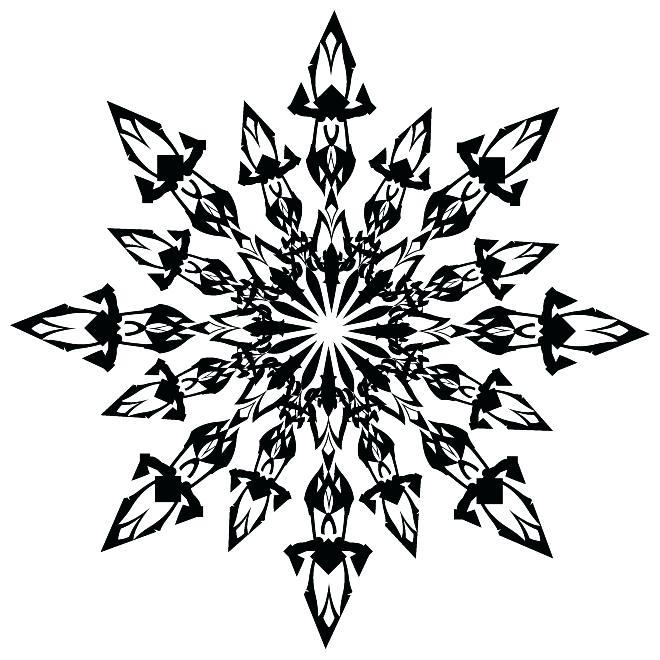 660x660 White Snowflake Clip Art White Snowflakes Clipart Free