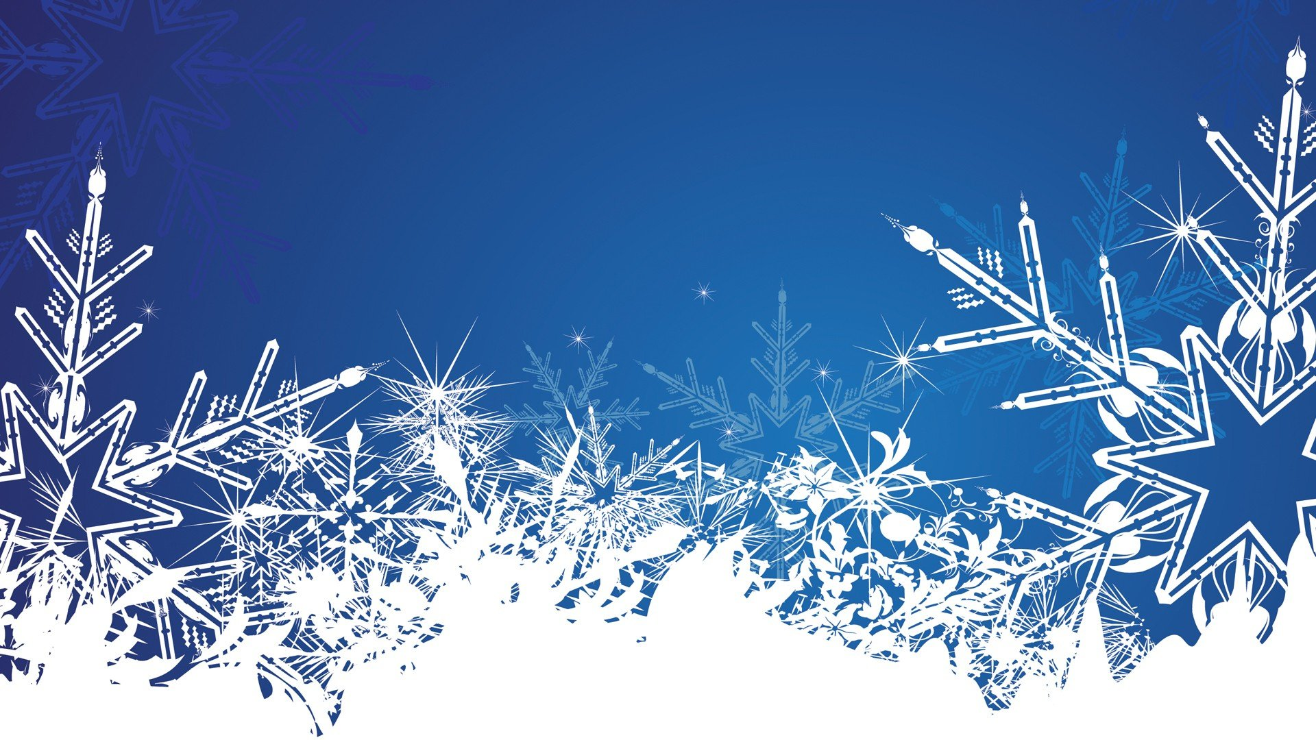 1920x1080 Winter Vectors Illustrations Snowflakes Blue Background Vector Art