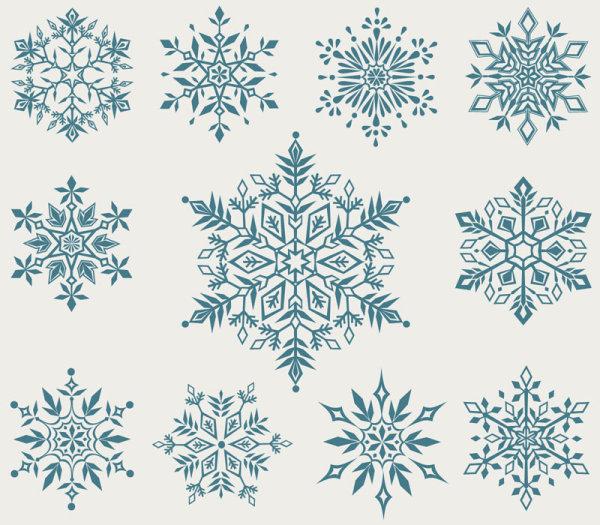 600x525 Free Snowflake Art Snowflakes Vector Download Free Vector Art Free