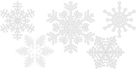 568x294 Collection Of Free Vector Snowflake Clipart High Quality