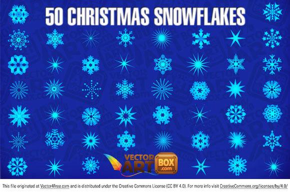 580x387 50 Christmas Snowflakes