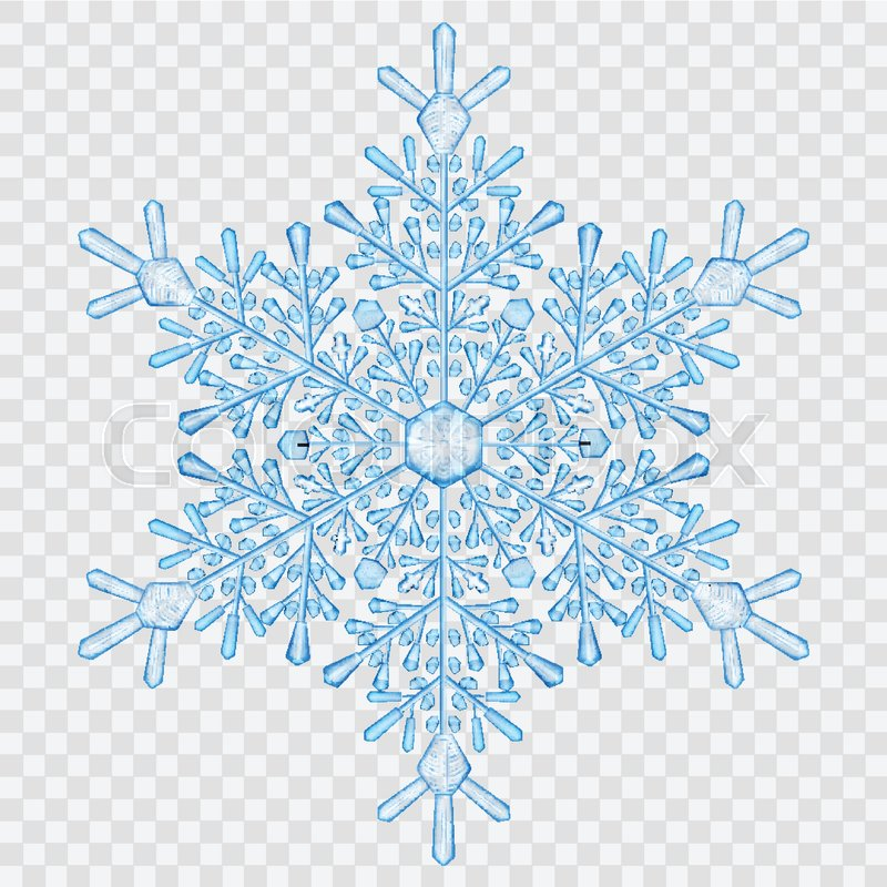 800x800 Big Translucent Crystal Snowflake In Light Blue Colors On
