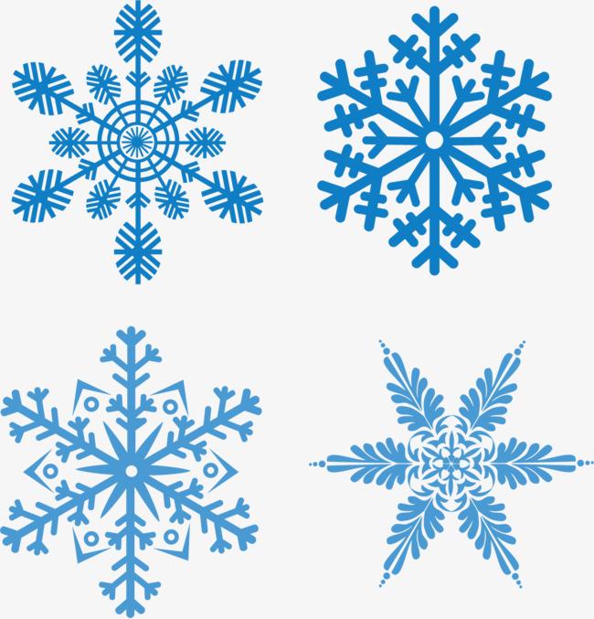 650x677 Blue Sky Snow Snowflake Vector Material, Vector Snow, Snowflake