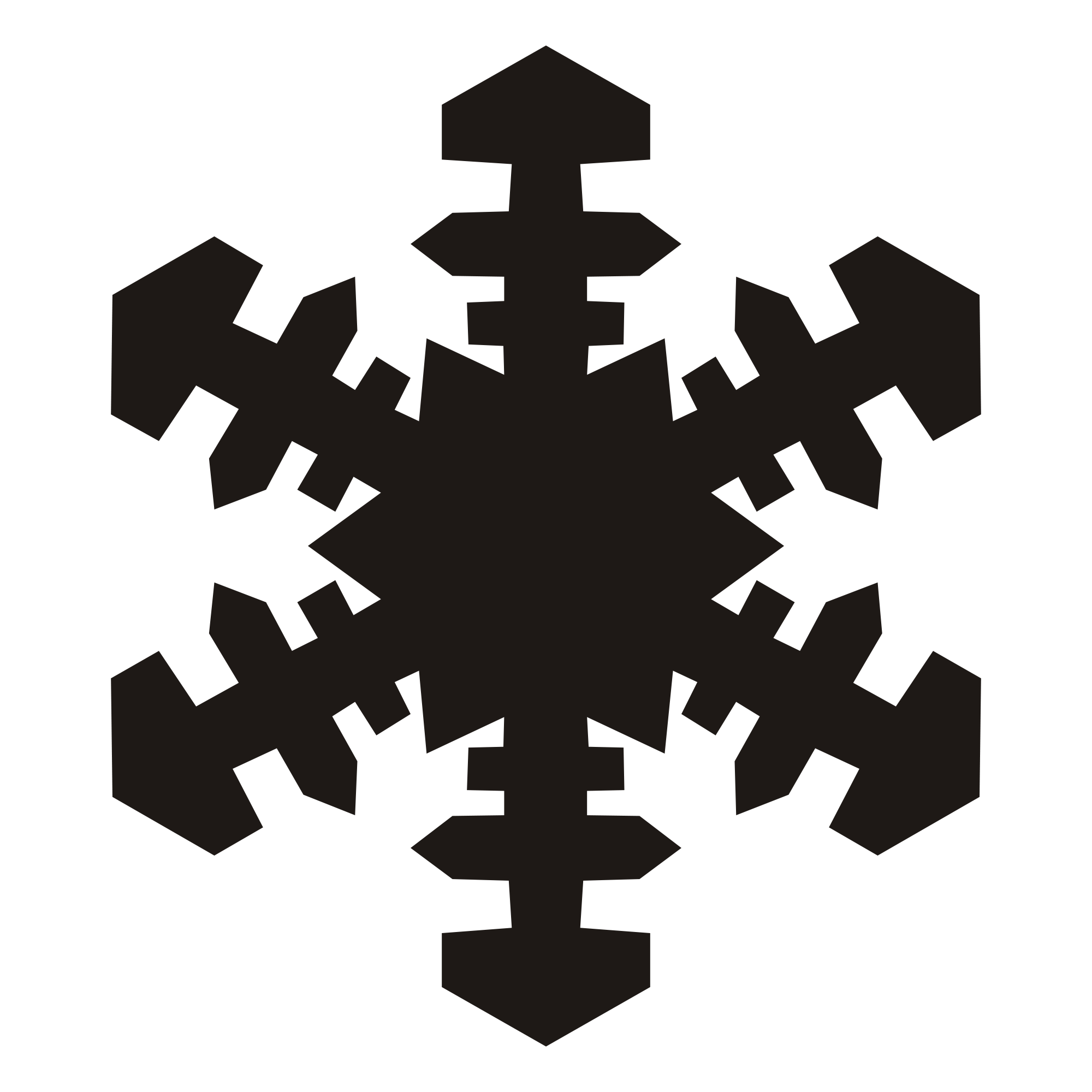 2000x2000 Collection Of Free Snowflake Vector Public Domain. Download On Ubisafe