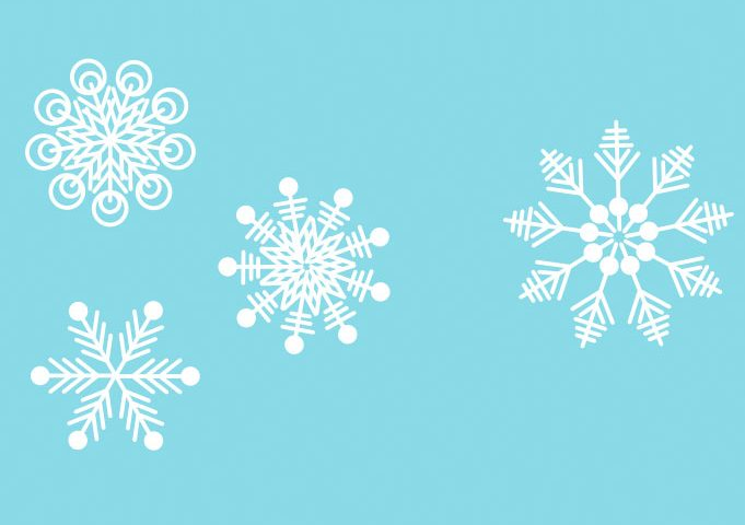 681x480 Free Beautiful Snowflakes Vector Ai Free Download
