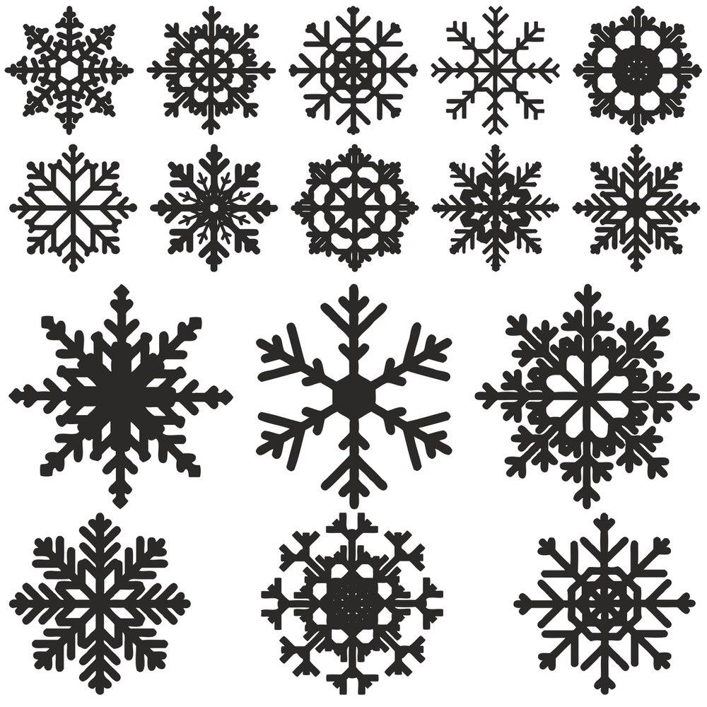 1000x1000 Snowflake Vector Free Vector Download