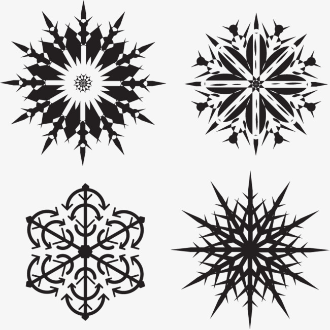 650x651 Vector Snowflakes, Snowflake, Vector Free Download, Black Png And