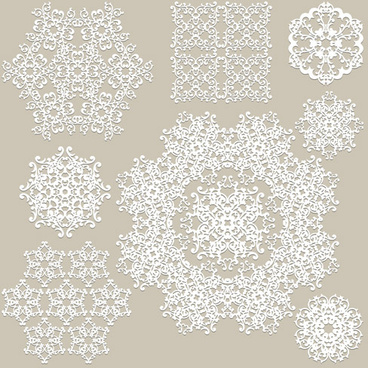 368x368 White Lace Ornaments Snowflake Vectors Png Images, Backgrounds And