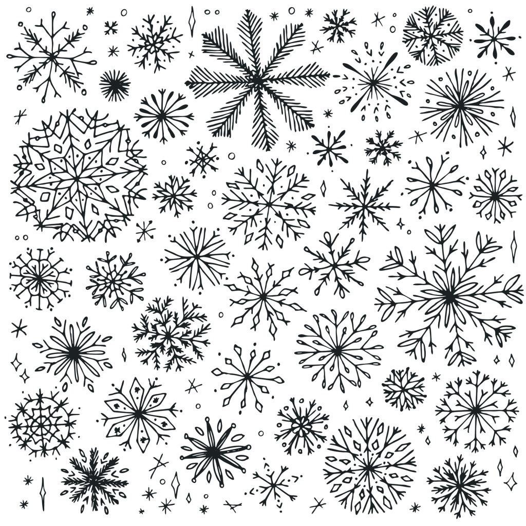 1024x1024 Winter Snowflake Vector Free Download Eps Files