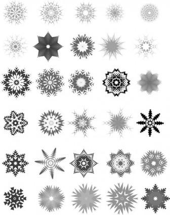336x425 30 Vector Snowflakes Vector Misc Free Vector Free Download