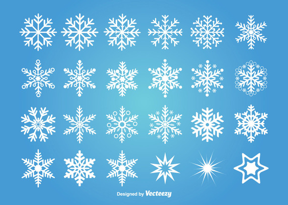 572x407 Assorted Snowflakes Vector Free Vector Download In .ai, .eps