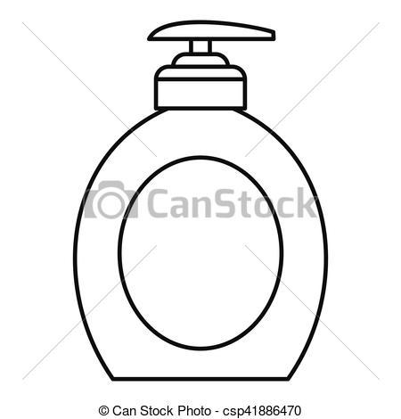 450x470 Liquid Soap Icon, Outline Style. Liquid Soap Icon. Outline