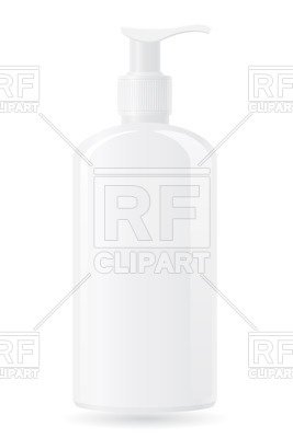 267x400 Plastic Bottle With Liquid Soap Vector Image Vector Artwork Of